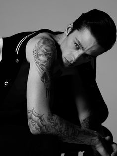 Ash Stymest photographed by Ben Cope and styled with pieces from Saint Laurent, in exclusive for Fucking Young! Online.