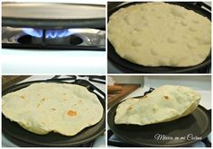 Homemade Flour tortillas are more common in the northern states of México, where they are still made using a traditional recipe. Recipes With Flour Tortillas, Homemade Flour Tortillas, Making Tortillas, Mexican Dishes, Mexican Food Recipes, Mexican Bread, Mexican Cooking, How To Make Flour, Tortilla Recipe