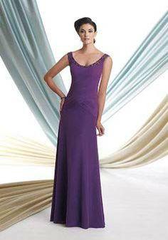 A line Floor Length Scoop Chiffon Mother of the Bride/ Groom Dress - Lunadress.co.uk