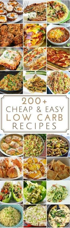 "Low carb recipes don't have to be expensive. Here is a list of budget-friendly low carb recipes for breakfast, lunch, dinner, snacks, desserts and more. Please keep in mind that this is a low carb list and not a no carb list. The term ""low"" is very subjective and everyone has a different definition of what low is. Some meals are also keto, some are not."