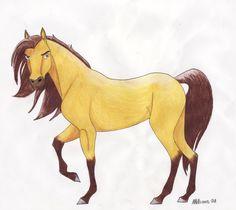 Spirit by ~Moto-Princess on deviantART Horse Drawings, Cute Animal Drawings, Animal Sketches, Cute Drawings, Spirit The Horse, Spirit And Rain, Arte Disney, Disney Art, Caballo Spirit
