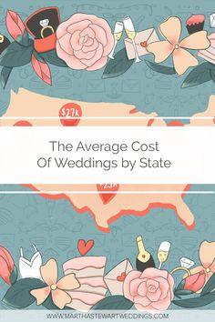 The Average Cost of Weddings by State Budget Wedding, On Your Wedding Day, Diy Wedding, Cruise Ship Wedding, Destination Wedding, Sugar Free Cupcakes, Average Wedding Costs, Tourist Map, Wedding Planning Timeline