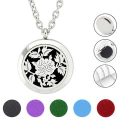 Find More Pendants Information about Free with Chain and Felt Pads! 316L Stainless Steel Silver Magnetic 30mm Essential Oil Diffuser Perfume Locket Necklace ,High Quality Pendants from URS Jewelry on Aliexpress.com