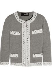 Love Moschino Embellished stretch-cotton jersey jacket