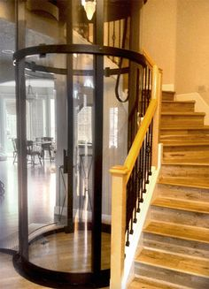 Visilift elevators complement traditional home styles.