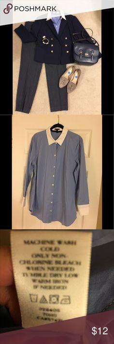 Oxford Shirt Classic oxford blue shirt Ann Taylor Tops Button Down Shirts