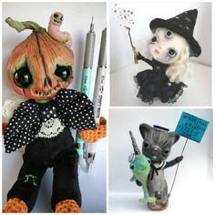 #pumpkin #witch #familiar #narwhal #cat Creature 3d, 3d Illustrations, Curious Creatures, Art Dolls, Witch, Etsy Seller, Pumpkin, Cats, Drawings