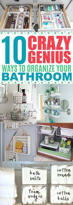Bathroom Organizing Ideas, Bathroom Organization Tips & Hacks