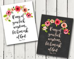 "A Pocket full of LDS prints: Free Prints - 2017 Mutual, Youth, YW Theme, ""If any of you lack wisdom, let him ask of God"" James 1:5–6"