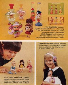 "I loved Liddle Kiddles! They were scented and came in plastic ""perfume"" bottles, lockets, etc."
