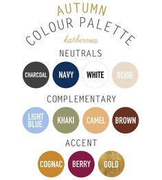 Warm Autumn Skin Tone Color Palette | For autumn, I've moved the famous navy up to neutrals. Cue: navy jeans ...