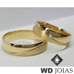 Couple Rings Gold, Engagement Rings Couple, Elegant Engagement Rings, Solitaire Engagement, Wedding Anniversary Rings, Wedding Rings Simple, Gold Diamond Wedding Band, Wedding Ring Bands, Couple Ring Design