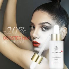 🌲 Profit now from 20% discount! 🌱 Booster No4 – Anti-Puffiness! Valuable nutrients improve skin eveness so that EYE-BAGS appear reduced and complexion is revitalized. Promotion valid for short time!  KEY BENEFITS: - Targeted to calm sensitive and irritated skin - Increases skin thickness, smoothness, hydration and firmness - Reduces visibly puffiness  #evenswiss #swiss #schweiz #puffiness #eyebags #eyes Eyebags, Promotion, Lipstick, Calm, Key, Lipsticks, Unique Key