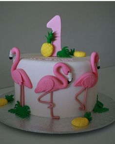 Flamingo Party Birthday Cake