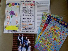 A child friendly letter form to communicate with our Sponsor Children!