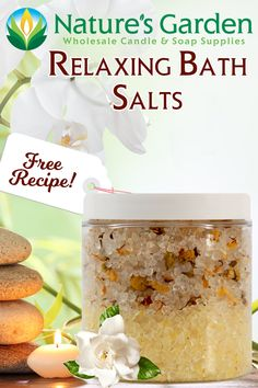 Free Relaxing Bath Salts Recipe by Natures Garden