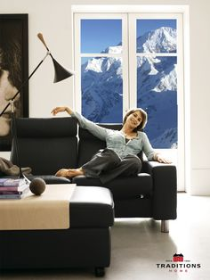 Even on the coldest days, you will be relaxed and comfortable in a Stressless sofa.