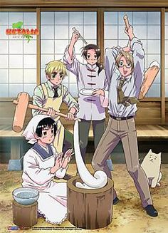 Hetalia Wall Scroll - Mochi Party