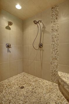 Master Bathroom Shower - two heads