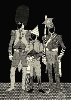The Lords of The City - ©Radu Pop - www. Ghost In The Machine, Stippling, Creature Design, Pop, Graphic Illustration, Illustrations, Great Artists, All Art, Two By Two