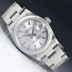 Rolex Midsize 30MM Oyster Datejust Stainless Steel Silver Dial Gold Bezel 78240