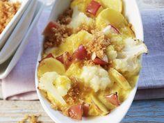 Blumenkohl-Apfel-Gratin mit Fontinakäse ist ein Rezept mit frischen Zutaten aus der Kategorie Blütengemüse. Probieren Sie dieses und weitere Rezepte von EAT SMARTER!