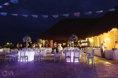 Reception set-up at the Moon Palace Resort in Cancun. @Palace Resorts Weddings   Mexico wedding photographers Del Sol Photography  #dinner #reception #palaceweddings