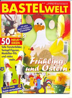 tavasz5 - Anita Brīvniece - Picasa Webalbumok Cross Stitch Magazines, Diy Ostern, Crochet Magazine, Book Crafts, Easter Crafts, Paper Cutting, Crafts To Make, Album, Blade