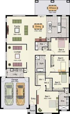 Home Design - Erskine 290 - Hotondo Homes Square House Plans, Best House Plans, Dream House Plans, The Plan, How To Plan, Hotondo Homes, Home Design Floor Plans, Home Layout Plans, House Blueprints
