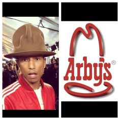 More than a few people realized Pharrell's hat at the Grammy's looked pretty familiar… | The Arby's Twitter Account Totally Called Out Pharrell's Insane Grammy's Hat And It Was Awesome