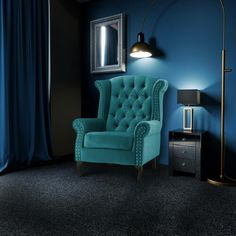 Ernest Wingback Chair Everly Quinn Upholstery Colour: Turquoise