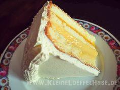 Frühlingsbote: Vanilletorte mit Mangofüllung // Vanilla-Torte with mangofilling Cheesecake, Sweets, Baking, Desserts, Bourbon, Food, Birthday Cakes, Good Food, Wedding Cakes