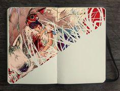 Blood Spot by Gabriel Picolo. Princess Mononoke fanart.