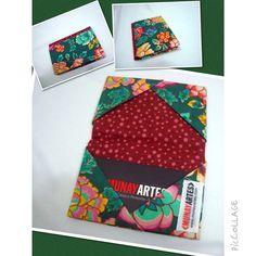 Porta Cartão de Visitas Floral Oriental  www.munayartes.com