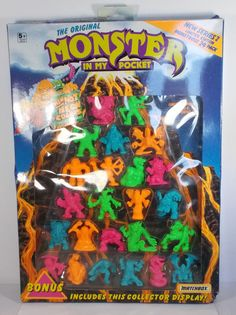 Monster In My Pocket - Series 2 - Boxed - X 24 Complete Set 12 My Pocket, Classic Toys, Ebay