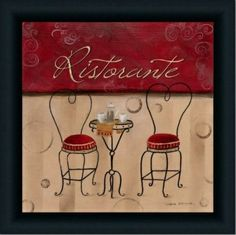 french bistro kitchen decor | Italian Cafe Red Kitchen French Decor
