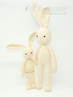 "In this free crochet pattern, I& show you how to crochet a cute bunny . - In this free crochet pattern, I will show you how to crochet a cute bunny. The dangling bunny ""Mill - Crochet Gratis, Crochet Bunny, Crochet Animals, Free Crochet, Stitch Crochet, Cute Bunny, Bunny Bunny, Baby Wearing, Baby Knitting"