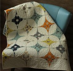 Stargazer Quilt - Lunden Quilt Designs - Modern Quilting Pattern - Uses Scamper Fabrics from Birch Fabrics. $12.75, via Etsy.