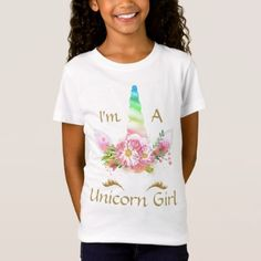 I'm A Unicorn Girl Spring Gold Colors Girls Tshirt - spring gifts beautiful diy spring time new year