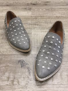 22ac136f434f0 Simple Studded Loafers. Studded LoafersLeather Slip ...