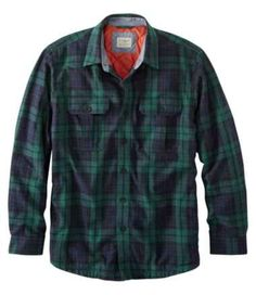 Summer Outfits Discover Mens PrimaLoft-Lined Shirt-Jac Slightly Fitted Plaid PrimaLoft-Lined Shirt-Jac Slightly Fitted Plaid at L. Casual Button Down Shirts, Casual Shirts, Men's Shirts And Tops, Mens Sherpa, Scottish Plaid, Vintage Hawaiian Shirts, Shirt Jacket, Summer Outfits, Men Casual