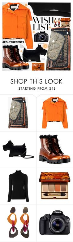 """""""#PolyPresents: Wish List"""" by katjuncica ❤ liked on Polyvore featuring Peter Pilotto, Emilio Pucci, Radley, Prada, La Fileria, Clarins, Toolally, Eos, contestentry and polyPresents"""