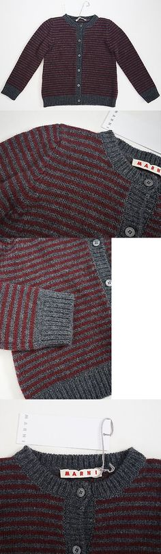 Sweaters 51582: $275 Marni Italy Virgin Wool Cashmere Striped Pattern Cardigan Sweater 6 8 -> BUY IT NOW ONLY: $75 on eBay!