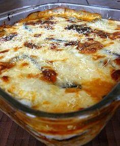 Lasagna de Berenjena - All Hair Styles Low Carb Recipes, Cooking Recipes, Healthy Recipes, Vegetable Recipes, Vegetarian Recipes, Organic Recipes, Casserole Recipes, I Foods, Italian Recipes