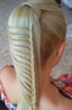 Coolest Hairstyles, Braid Hairstyles, Braided Hairstyles, Hair Style, Cool And Easy Hairstyles, Ponytail Hairstyles