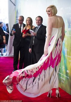 Contrast: Gwendoline certainly looked a far cry from her Game Of Thrones character on Mond...