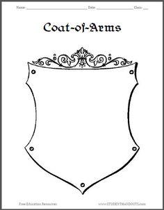 Coat-of-Arms Template Worksheet 3