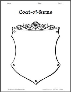 Coat of Arms Template Printable #timetravellers #typed