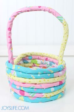 DIY Fabric and Rope Easter Basket