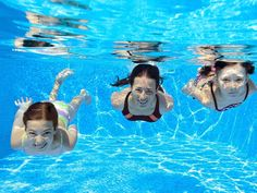 Happy family swim underwater in pool. And having fun, mother and children on vac , Ingo Froböse, Pool Warehouse, Major Muscles, Mother And Child, Happy Family, Underwater, Sport, Have Fun, Travel Photography